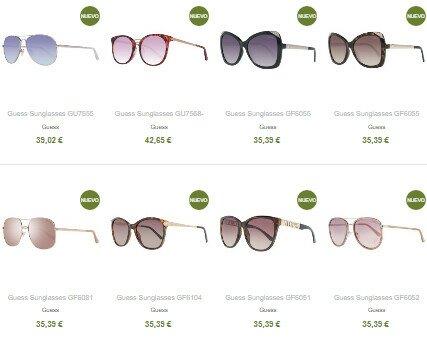 Ejemplo Precios. Ejemplo precios gafas Guess. Contamos con más de 50 marcas y 3500 modelos diferentes.