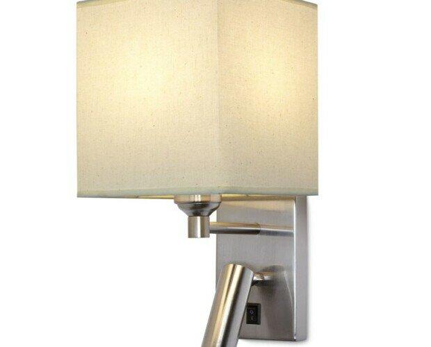 lámpara de pared. lámpara de pared con tulipa cuadrada