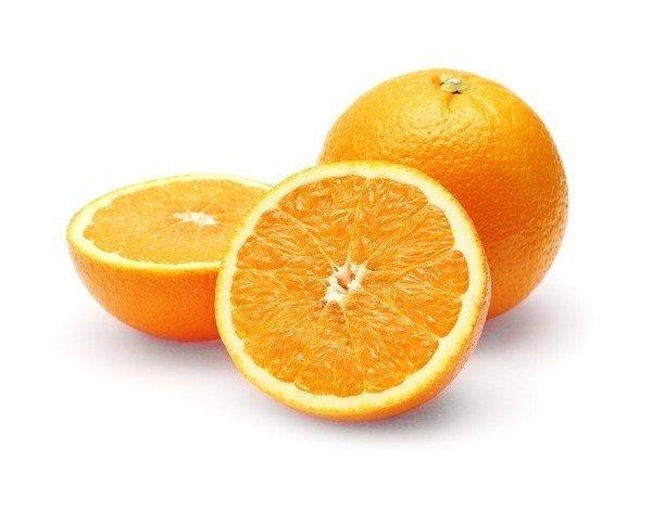 Naranja. Frutos grandes con un fuerte sabor cítrico