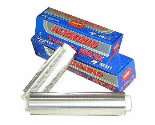 Rollos de aluminio. Formato industrial y doméstico