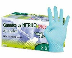 Guantes de Nitrilo. Contamos con guantes de Nitrilo sin polvo