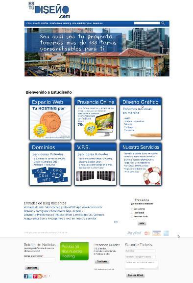 Diseño Web. Registro de domino y creación de páginas