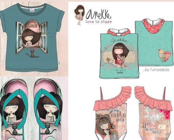 ropa al por mayor. Colección Verano 2020 Anekke bañadores, camisetas, chanclas y más