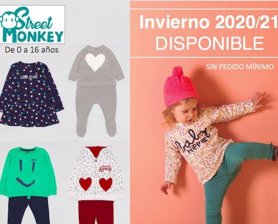 Ropa infantil. Primera colección de Invierno 2020/21 de Street Monkey. Proximamente mas colecciones