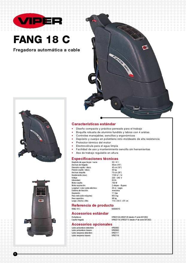 Fregadora Viper Fang. Fregdoras Marca Viper Fang 18C de cable