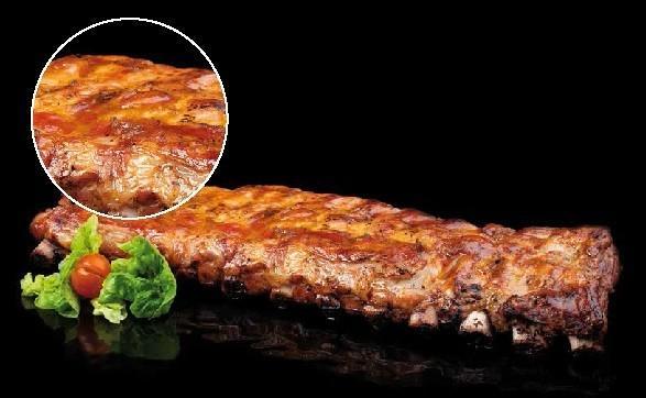 Platos Precocinados a Base de Carne.Costillar de cerdo, aceite, sal y pimienta.