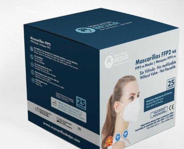 Caja de mascarillas FFP2. Las mascarillas vienen empaquetadas individualmente.