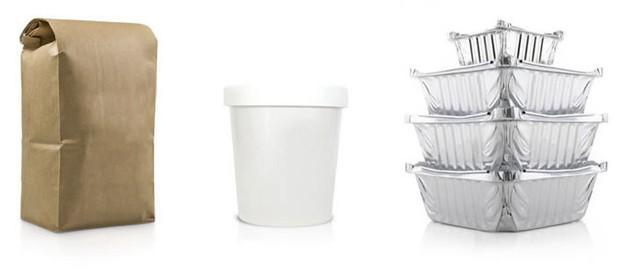 Envases de Aluminio para Comida.Bolsa kraft, tarrina porex, envases aluminio