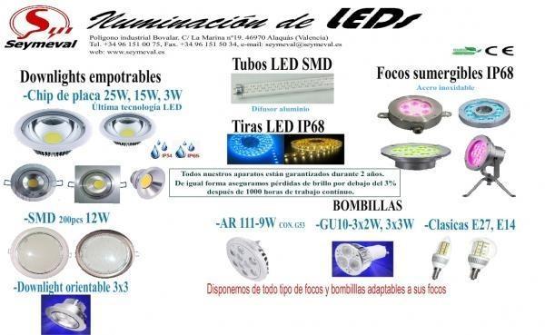 Iluminación. Variedad de productos