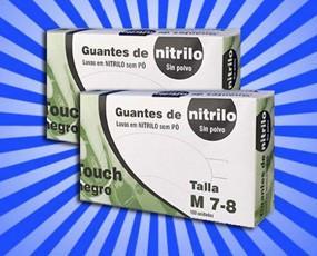 Guantes de Nitrilo. Caja de 100 ud. de guantes de nitrilo desechables
