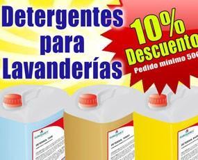 Oferta detergentes. Oferta 10% descuento en detergentes de lavanderías