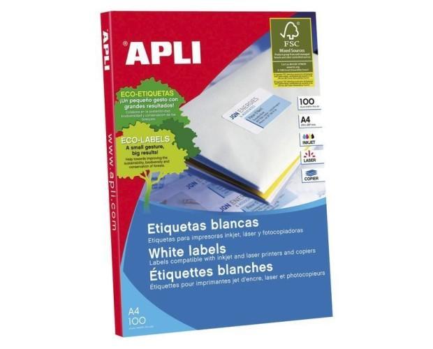 APLI Etiquetas. Caja de100 hojas