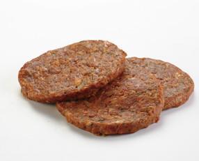 Hamburguesa Moruna. 100% cerdo, de sabor picante, muy jugosa.