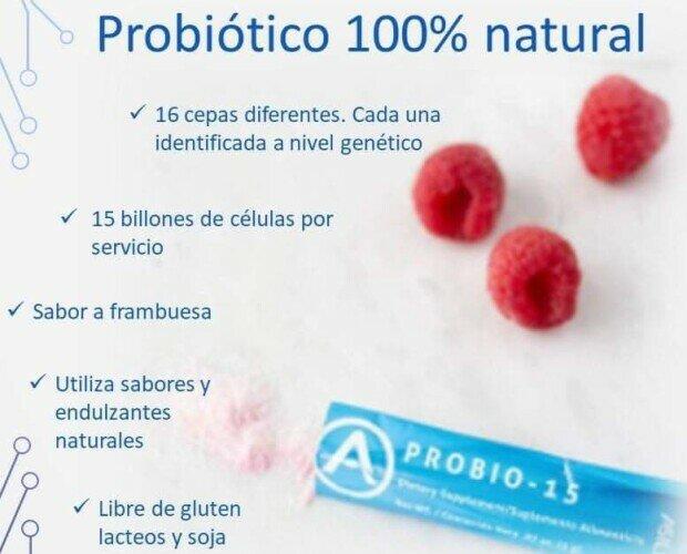 Probio-15. Trata y ayuda la diarrea,equilibra flora intestinal, mejora absorción de nutrientes.