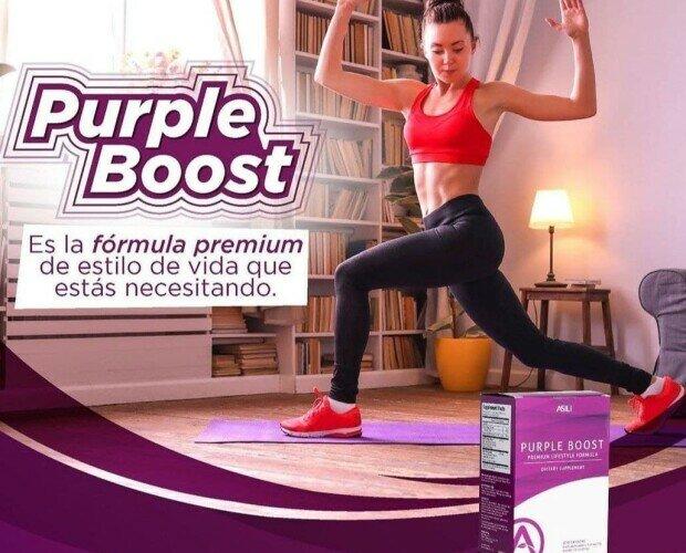 Purple boost. Mayor oxigenación, rendimiento, menos fatiga muscular, L-teanina, Yerba mate, Guaraná