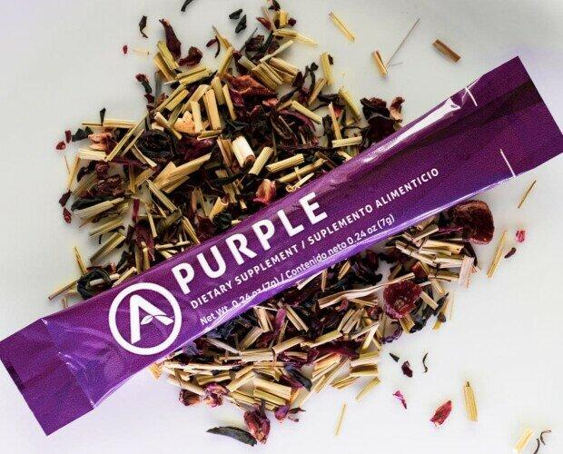 Purple. Control de peso, mejora estado de ánimo,reduce ansiedad,dolor menstrual,dolor piernas