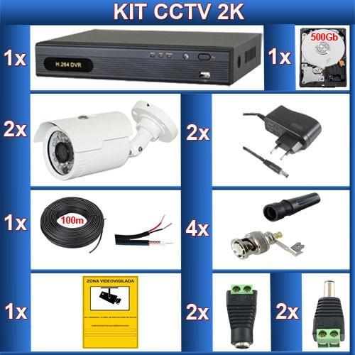 Videovigilancia.Kit de CCTV