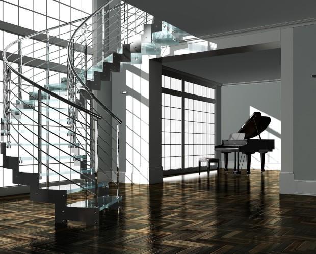 Escaleras.Disponemos de escaleras de caracol