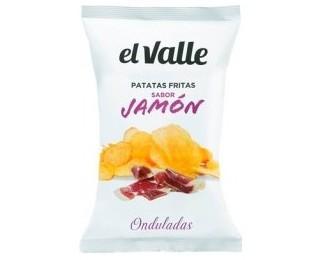 Patatas fritas sabor a jamón. Onduladas e irresistibles