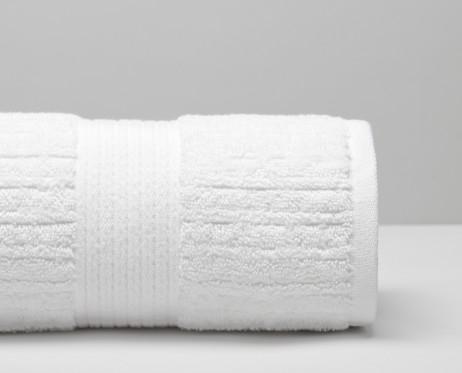 Toalla de lavabo 48x48 cm. Toalla blanca de rizo tejido con 100% algodón peinado de fibra larga
