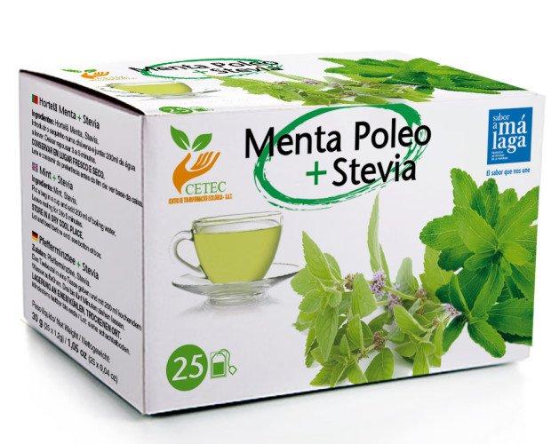 Menta Poleo + stevia. Ingredientes: Menta Poleo + Stevia