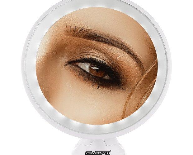 Espejo de Maquillaje Aumento 10X. Compacto y listo para viajar