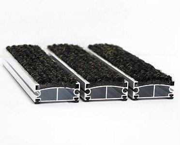 Alfombras de Barra de Aluminio. Perfiles de aluminio con fieltro o goma