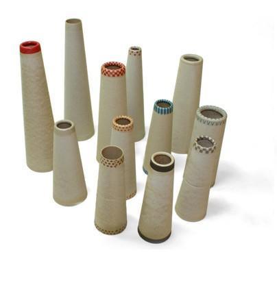 Accesorios para Textiles y Productos de Cuero.Variedad de conos de cartón