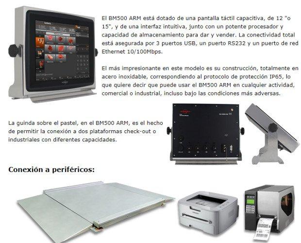BM500 Visor Táctil. Visor Táctil para la Industria y Pesaje.