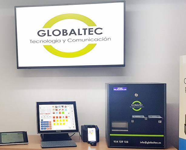 Productos globaltec. Cartelería digital,TPV táctil, impresora de ticket