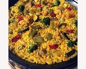 Paella de verduras. De la mejor calidad