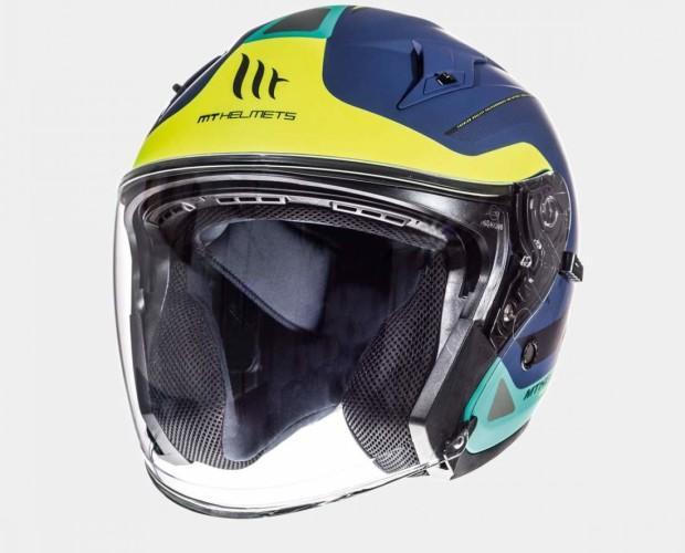 Accesorios para Moto.Nuevo casco jet con pantalla solar, destacado por su gran comodidad y ajuste