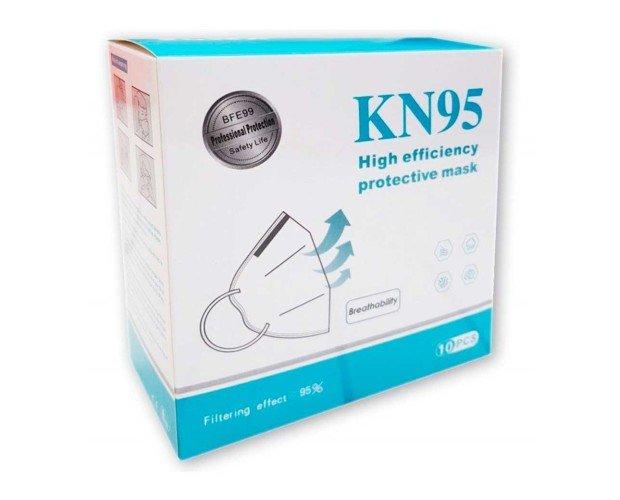 Mascarilla protección KN95. Plegable y fácil de almacenar