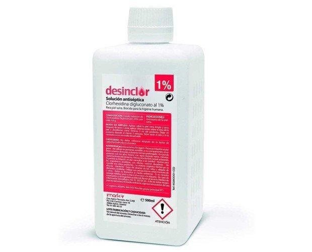 Desinclor solución antiséptica. Desinfección de la piel y zonas de punción.