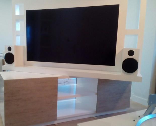 Mueble TV. Mueble de televisión giratorio