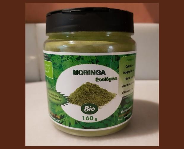 Moringa ecológica. Bote 160 gramos de Moringa en Polvo