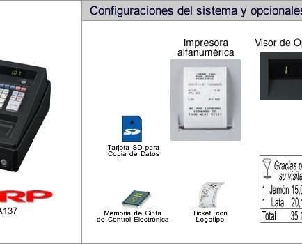 Cajas Registradoras.Modelo: XE-A137