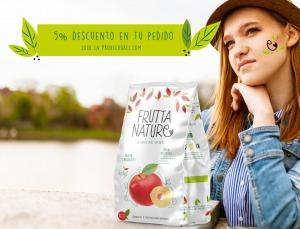 5% descuento 12 unidades snacks 60g manzana deshidratada