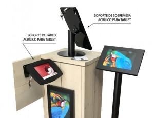 Soportes para Tablets en punto de venta con 5% de Dcto.
