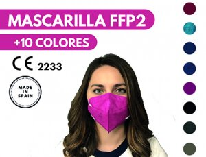 MASCARILLA FFP2 - COLORES - FABRICADO EN ESPAÑA