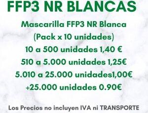 Mascarillas FFP3 NR Blancas