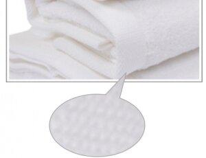 Toalla blanca 50x100 cm 100% algodón, 600 gramos