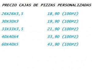 Cajas de pizza personalizadas