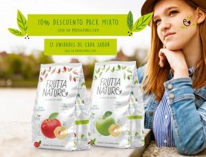 10% descuento pack mixto cajas manzana deshidratada
