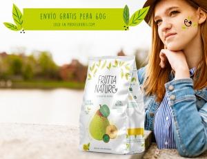 Envío gratis península 12 ud. snacks 60g pera deshidratada