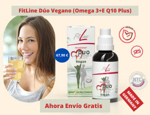 FitLine Dúo Vegano (Omega 3+E Q10 Plus Ahora Envió Gratis