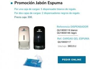 Promoción Jabón Espuma