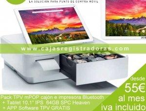 TPV Tablet 10,1 64 gigas + mPOP cajón e impresora Bluetooth