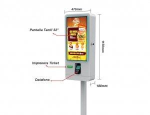 Kiosco TPV de Autoservicio sin gestion de efectivo
