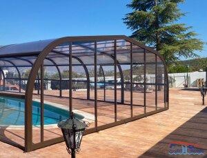 10% de descuento comprando cubierta para piscinas alta fija.